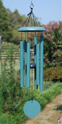 """The 27"""" Corinthian Bells wind chime is our smallest size in our most popular brand.  It makes a delightful gift or accent to your garden.  Hand tuned to the scale of C and Made in the USA."""