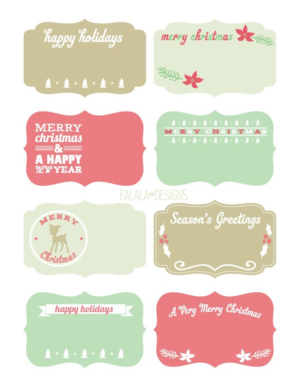 907 best paper crafts and gift wraps images on pinterest free printable holiday gift labels negle Gallery