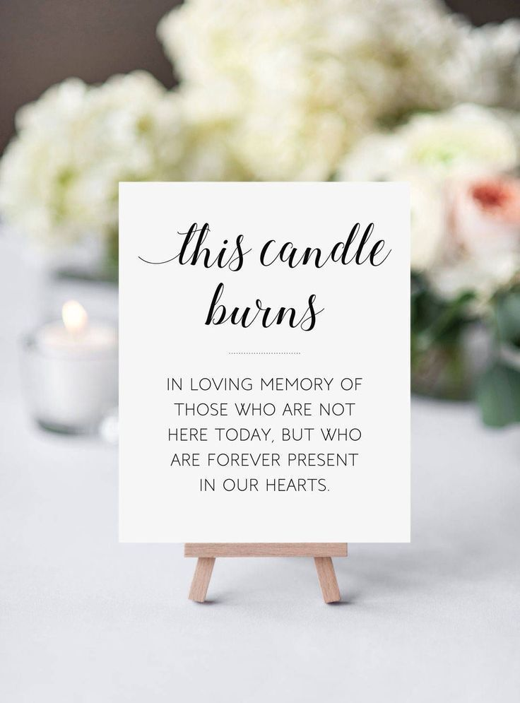Memorial Candle Sign, diese Kerze brennt, In Memory Candle Sign, druckbare Memori …