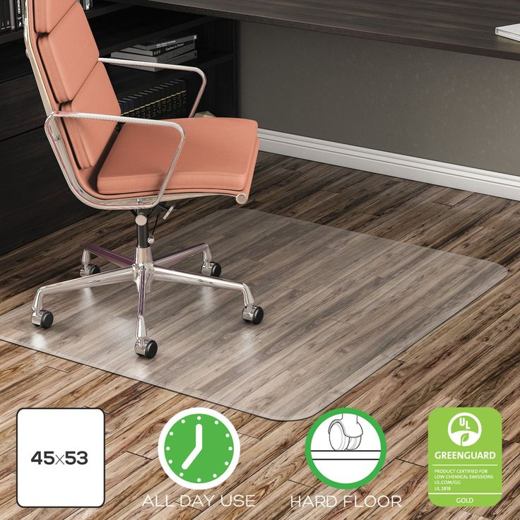 Alera All Day Use Non Studded Chair Mat For Hard Floors 36 X 48