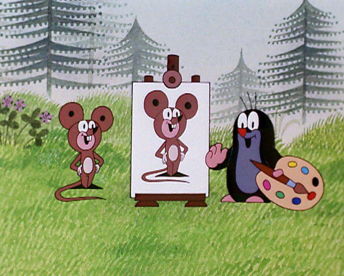 (2015-01) Muldvarpen har malet et portræt af musen