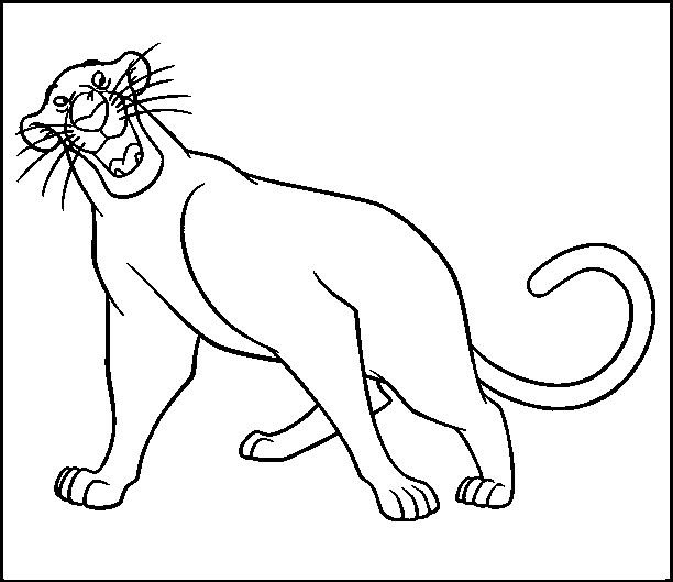 Jungle Book Bagheera Coloring Pages For Kids Printable