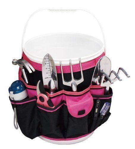Apollo Precision Tools DT0825P 5-Gallon Bucket Garden Tool Organizer Black/Pink ;from#justgotlower; TRYK19272062468372...