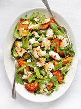 Salade de poisson et de patate douce  au basilic