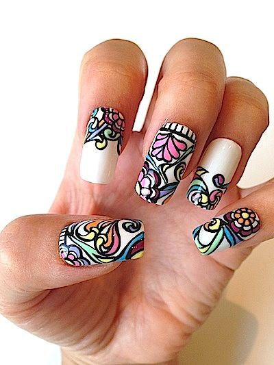 163 best amazing nail art images on pinterest water transfer nail polish trends summer 2013 2014 5 best nail art designs inspired by swimsuits polka dots plaid leopard color blocking bathing suits prinsesfo Image collections