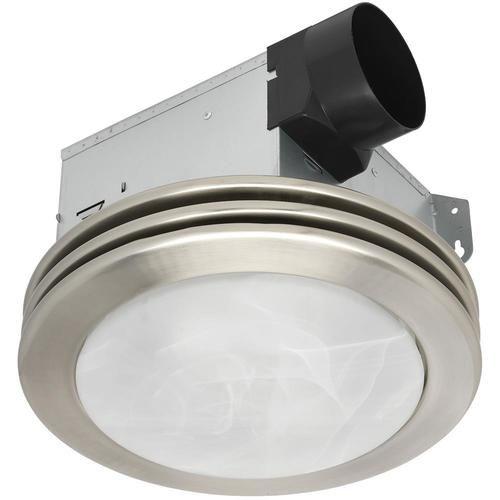 Utilitech Ventilation Fan 2 Sone 80 Cfm Brushed Nickel Lowes Com Bathroom Fan Light Bathroom Fan Brushed Nickel Bathroom
