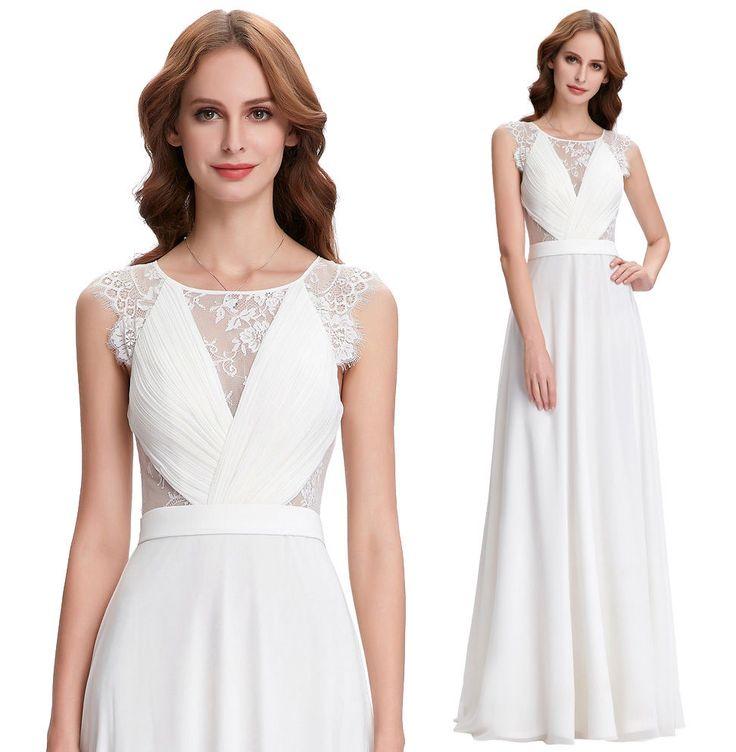 White Kate Kasin evening wedding dress