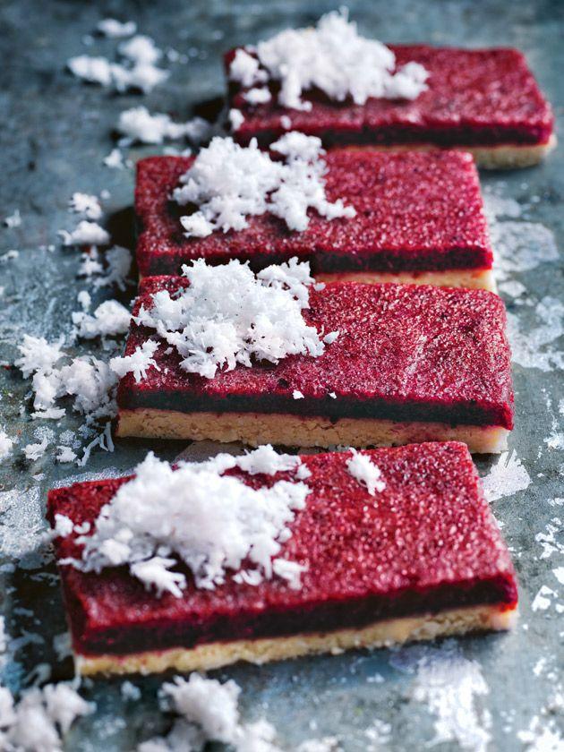 Raw Cherry Coconut Slice | Donna Hay