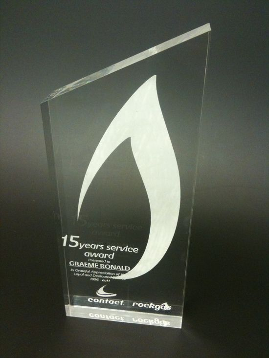 Custom Laser Etched Acrylic Trophy Laser Engraving