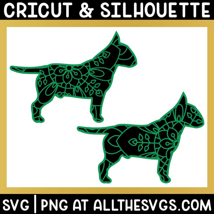 Download Free bull terrier dog mandala svg file for cricut and ...