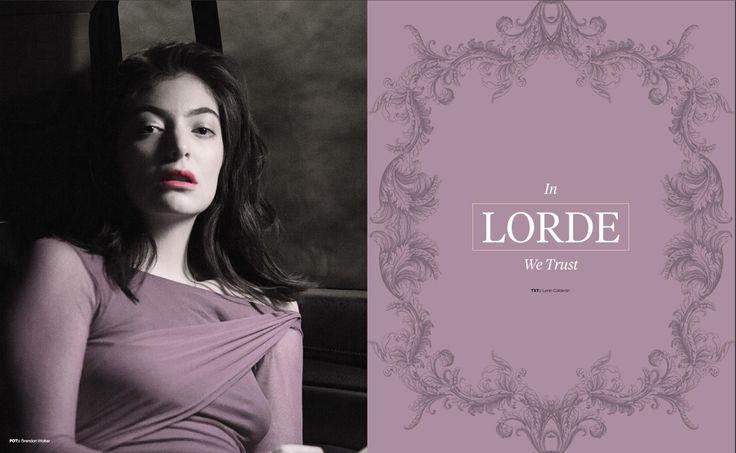 Revista Marvin 152: Fe En Portada: Lorde  #Lorde #Magazine #EditorialDesign #Editorial #Faith #Fe #ArtDirection #Marvin #RevistaMarvin