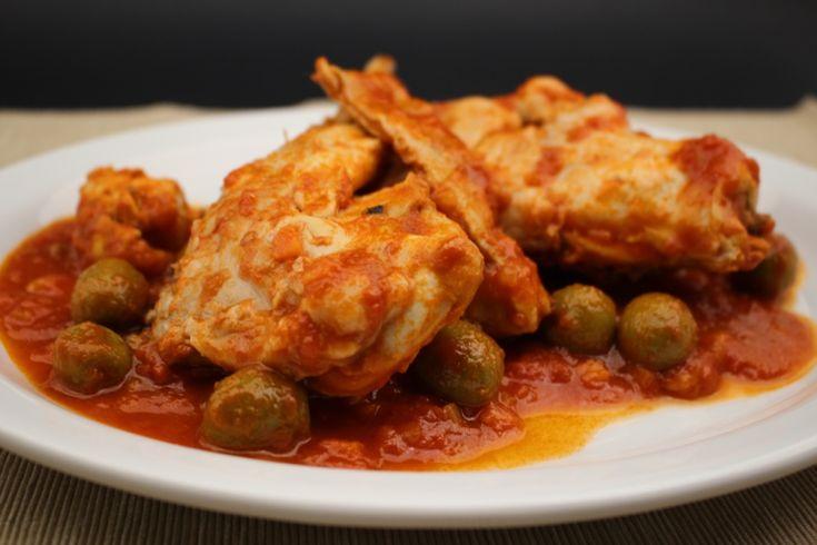 Coniglio in umido con pomodoro e olive