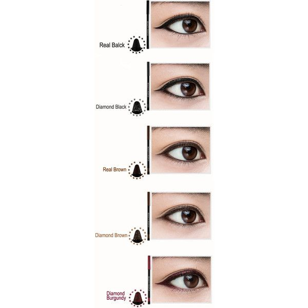 BEAUTY PEOPLE 10's Auto Eye Pencil Liner BEAUTY PEOPLE Eyeliner Online... ❤ liked on Polyvore featuring beauty products, makeup, eye makeup and eyeliner