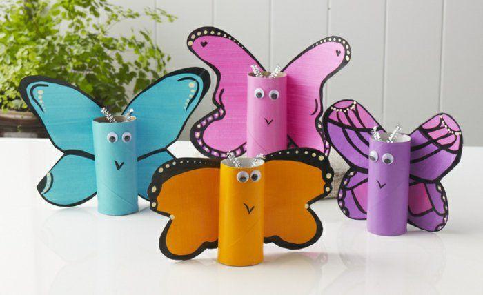 recycler le rouleau de papier toilette, papillons merveilleuses