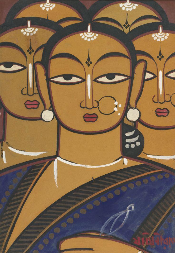 Jamini Roy - Untitled (Five Women)