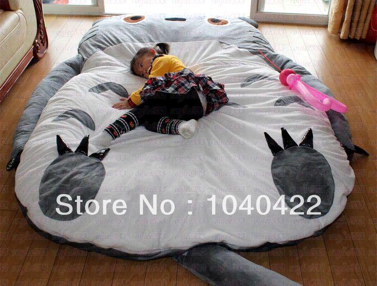 Free Shipping Giant Cartoon Sleeping Mattress Totoro Bean Bag mattress Sofa Cushion For Chirldren Gift Christmas Gift US $288.00