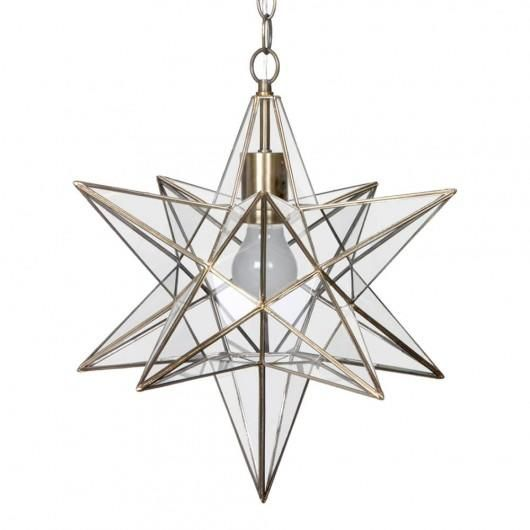 c01lc2012 nicklin star pendant ceiling light brass - Star Pendant Light
