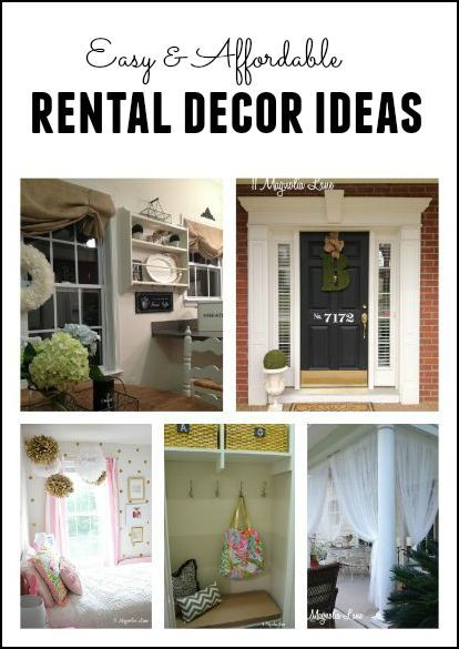 How to Make That Rental House Into a Home:10 Decorating Tips Easy and affordable ways to decorate your home even if it isn't your forever home.