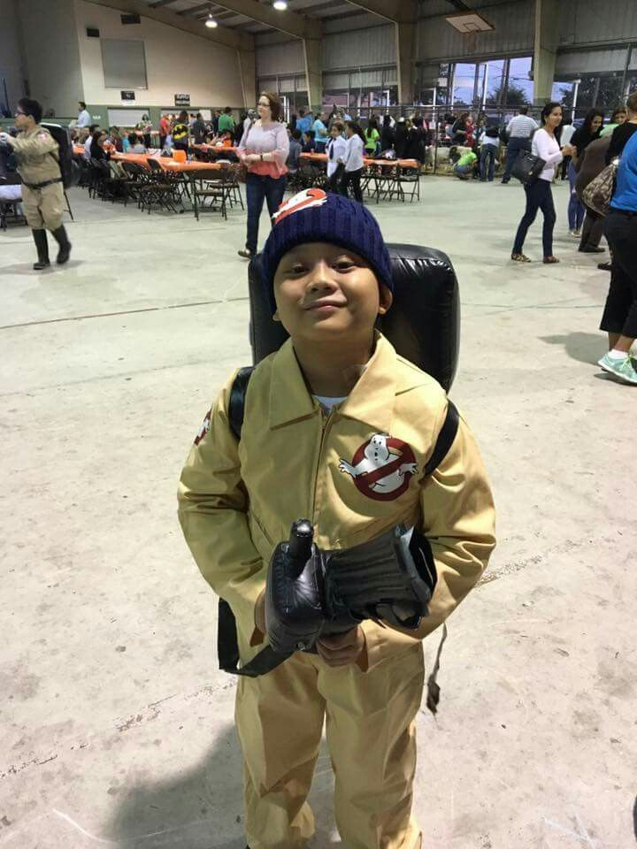 Nephew MG at his school's (St. Jerome Catholic School) Pumpkin Bash 2016 #Ghostbusters