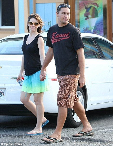 Evangeline Lilly and her boyfriend Norman Kali