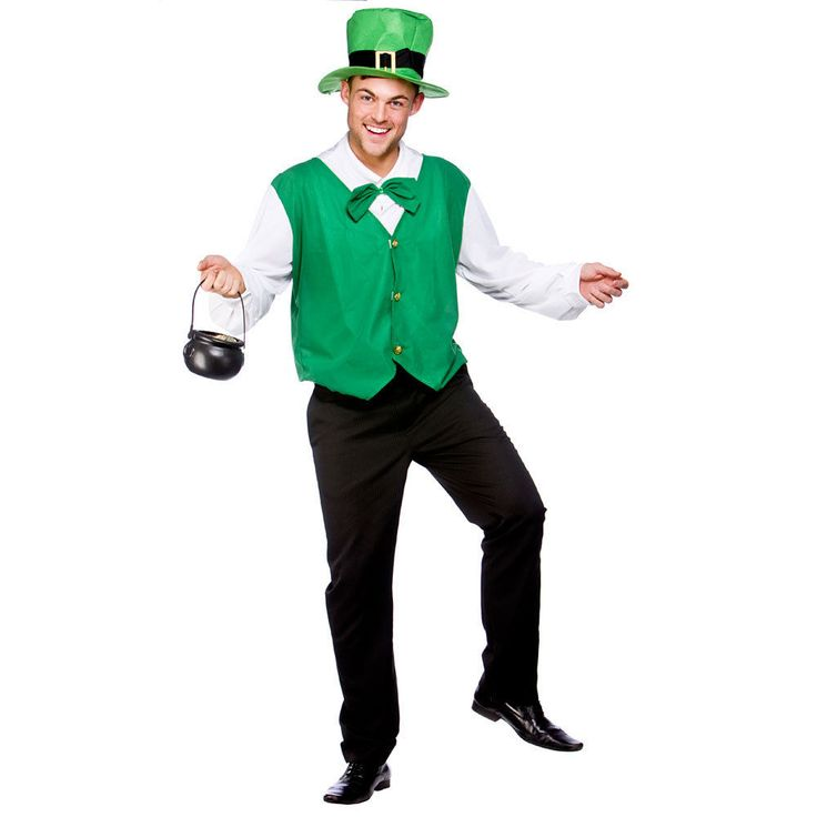 Mens Lucky Leprechaun Costume for St. Patrick s Day Irish Fancy Dress Mans Male