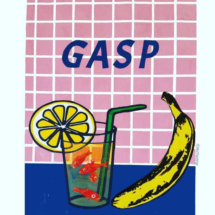 """Mi piace"": 13, commenti: 1 - massimo j. monaco (@massimo.j.monaco.artist) su Instagram: ""GASP (Les poissons rouges  de Matisse series) 2013 cm 40×28 #acryliconpaper #collage #drawings…"""