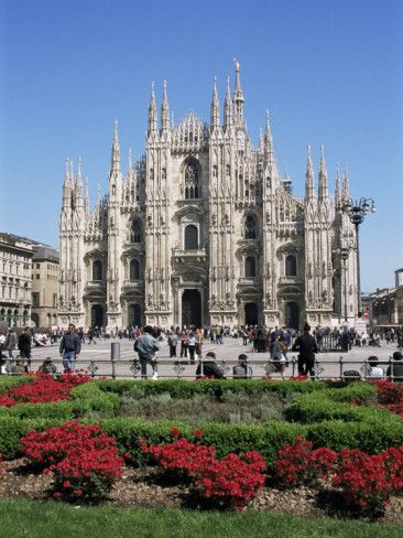 Piazza Del Duomo, Milan, Italy Photographic Print by Hans Peter Merten
