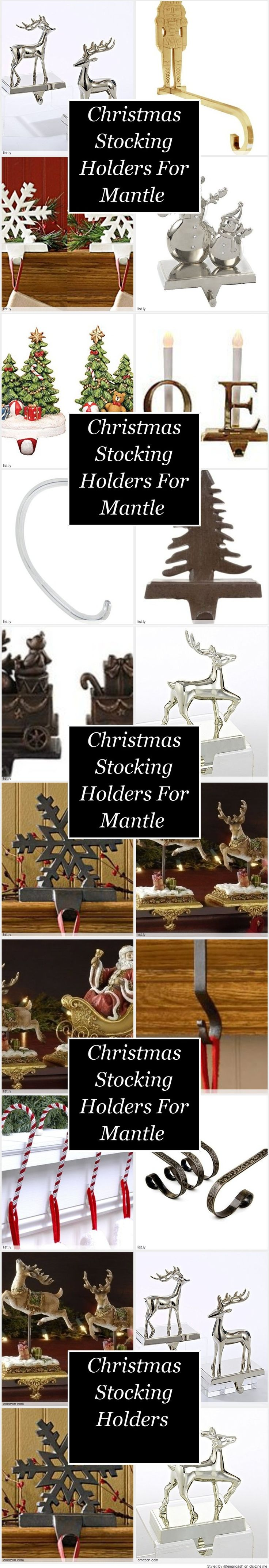 Christmas Stocking Holders For Mantle - Get these Christmas stocking holders for mantle to brighten up your Christmas decor. They come in all kinds of colors, styles and designs that is sure to enhance your Christmas mantel.