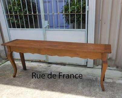 ANTIQUE FRENCH  COUNTRY FARM HOUSE SOFA TABLE CONSOLE