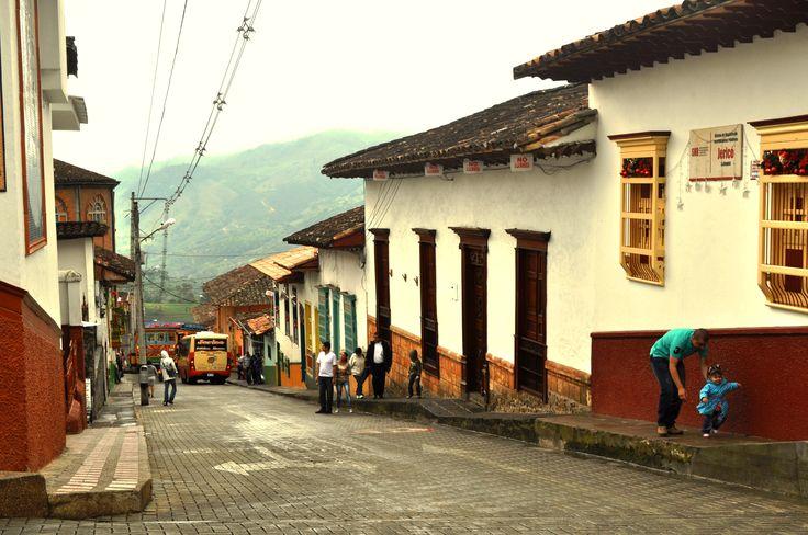 Colombia - Calles de Jerico Antioquia.