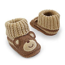 """Carter's Boys Knitted Monkey Bootie - Brown (Newborn) - Carters - Babies """"R"""" Us"""