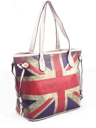 Geanta dama rosu cu albastru si gri Britain la pretul de 75 RON. Comanda Geanta dama rosu cu albastru si gri Britain de la Biashoes!