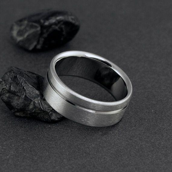 Titanium Wedding Band Titanium Ring Wedding by ClassicTitanium