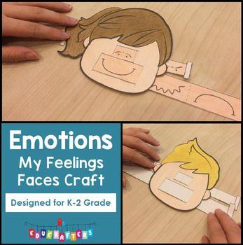 Feelings Faces Craft FREEBIE - Emotions | Emotions ...