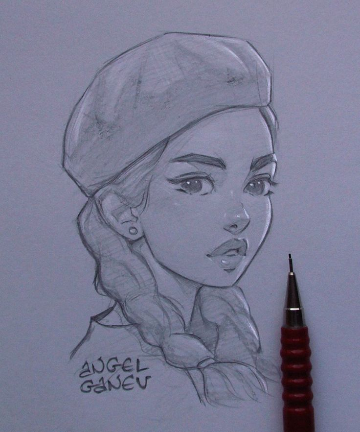 Beret Fast 1 hour sketch . I'm kinda scared to submit this faster works however …