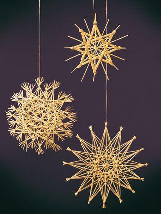 TRIBARTE: Dicas de decoração: Aprenda a fazer estrelas de vime.