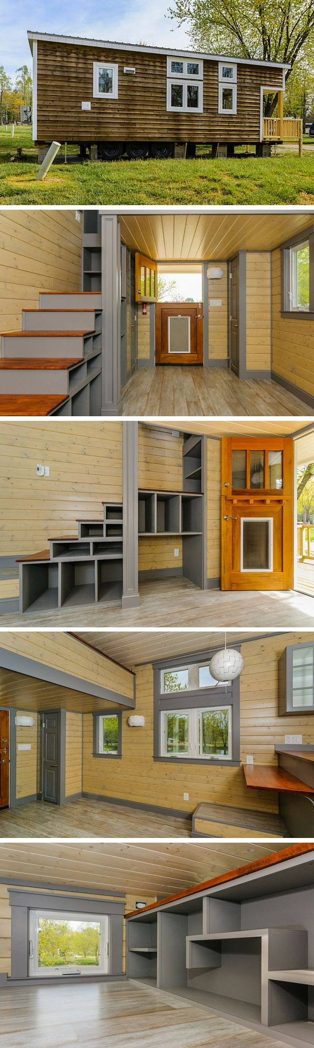 The Wynette from Wishbone Tiny Homes. A 10' by 30' tiny house with plenty of storage!