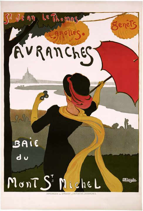 France French Avranches Normandy Tourist Poster Giclee Print