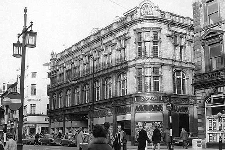 Boots, High Street, Nottingham, 1970.