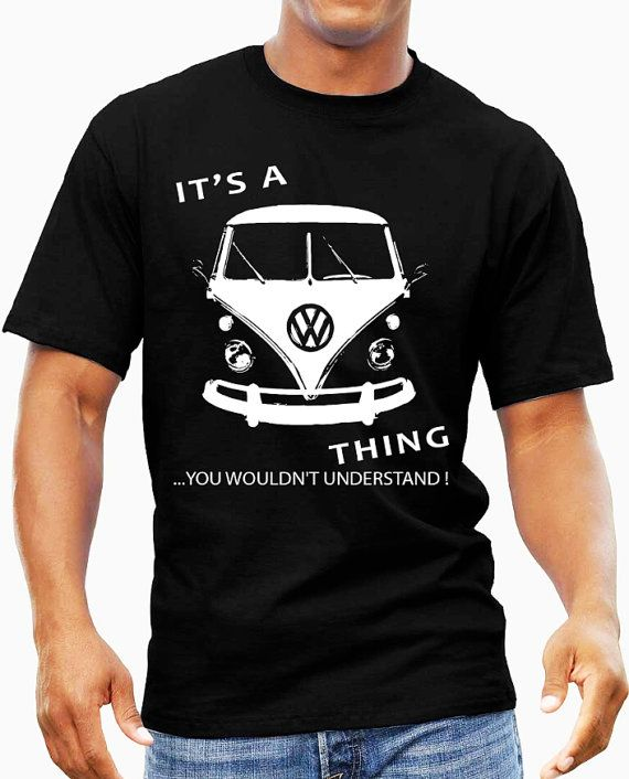 Geek Its a vintage VW Camper Van Volkswagen Thing by saintsdesigns, £15.50