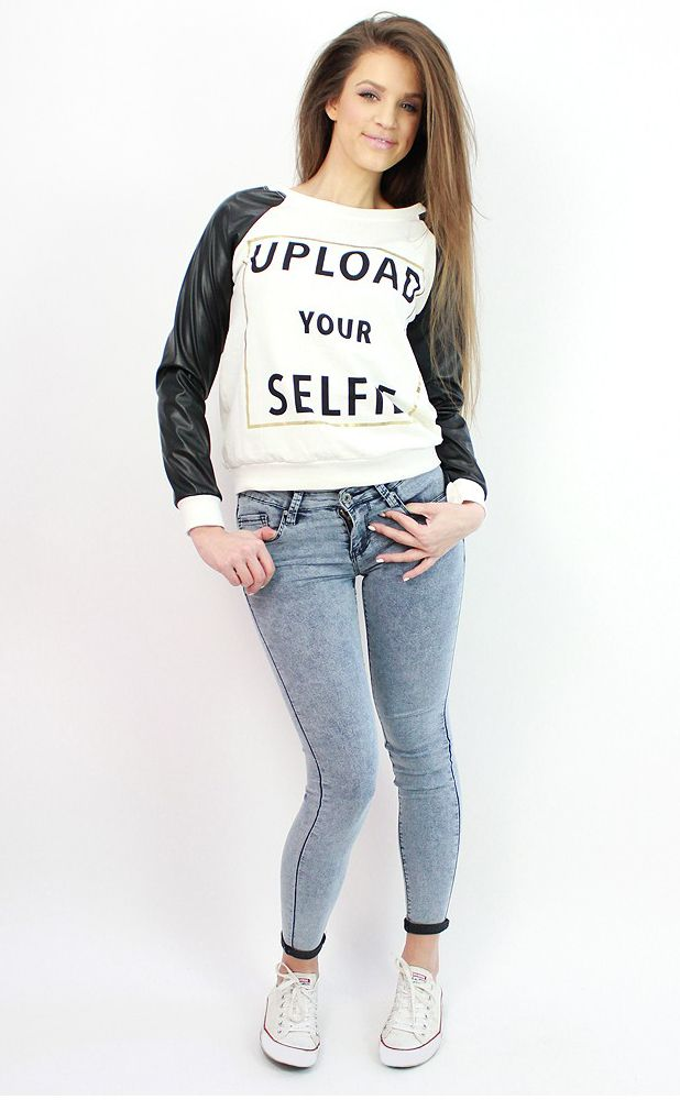 Distressed skinny jeans available at www.famevogue.ro- perfect for casual and sporty chic outfit...:)  #jeans #style #fashion #casual #trends