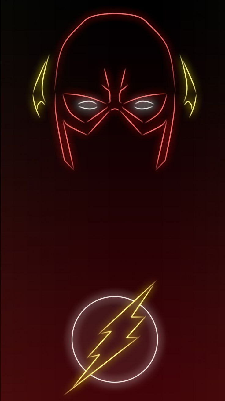 Neon Light The Flash  wallpapers 1080 x 1920 Wallpapers available for free download.