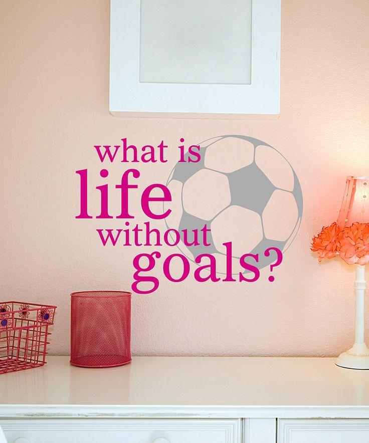 Loving this Belvedere Designs Pink Life Goals Wall Quote on #zulily! #zulilyfinds