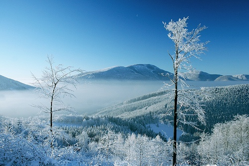 Beskydy mountains in winter, Czech Republic