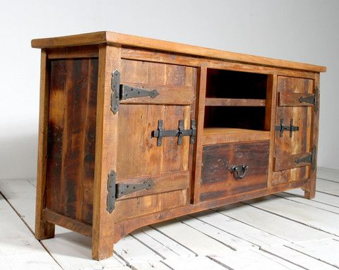 Reclaimed wood furniture  wooden TV stand  Modish Living