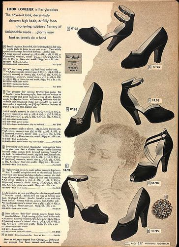 1948 -  Sears Roebuck Catalog, Spring - via Laura Mae on Blogger: Shoes Fantasy, 1940 1950S, Shoes Yesterday, 1940S Fashion, Shoes Ads, 1940 Clothing, 1940S Shoes, Vintage Shoes, 1940 Fashion