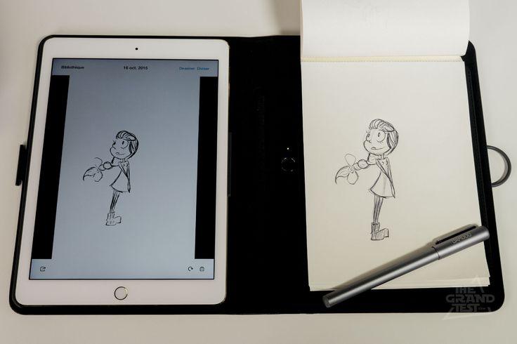 Le Bamboo Spark de Wacom est un bloc-notes numérique permettant de se servir de papier et stylo au lieu d'écrire à même sur une tablette.