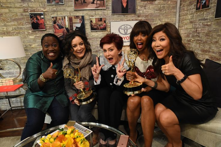 NEW YORK - DECEMBER 8: The ladies of The Talk Sheryl Underwood, Sara Gilbert, Sharon Osbourne, Aisha Tyler and Julie Chen in the green room of CBS This Morning on Tuesday, Dec. 8, 2015 for the CBS Television Network.  (Photo by Heather Wines/CBS via Getty Images)  via @AOL_Lifestyle Read more: https://www.aol.com/article/entertainment/2017/06/15/aisha-tyler-announces-her-departure-from-the-talk-breaks-down/22314341/?a_dgi=aolshare_pinterest#fullscreen