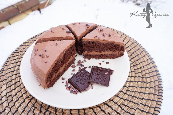 Božský čokoládový dort - Katty Veganza