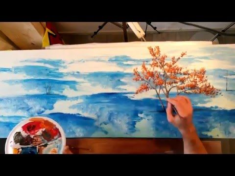 "Timelapse Painting ""Point Of View"" Surreal Landscape Acrilyc painting - YouTube"